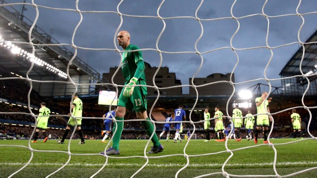 CAUGHT OUT: Will Caballero at Stamford Bridge