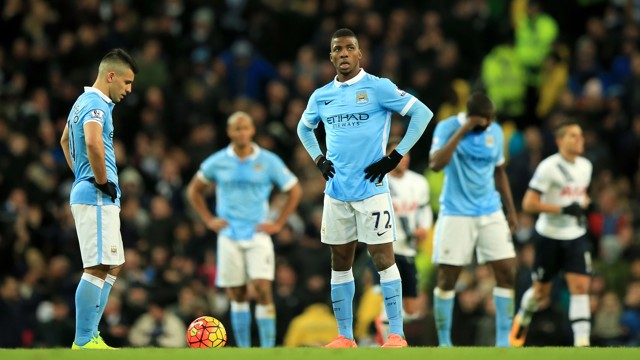 TESTING TIME: Sergio Aguero and Kelechi Iheanacho wait for the restart