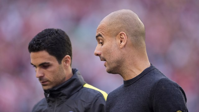 INSIDE MAN: Pep talks tactics with former Arsenal captain