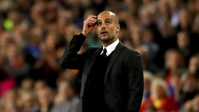 TOUGH NIGHT: Pep Guardiola
