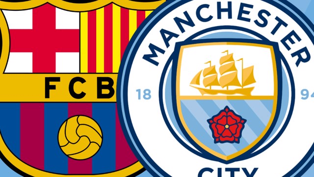 Barcelona v City Crests