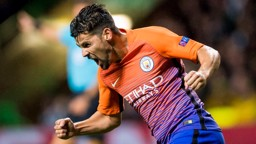 NOLITO: Manchester City's Nolito celebrates scoring his side's third goal of the game