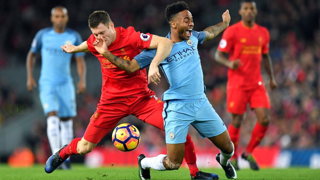 BATTLE - Sterling battles with Milner