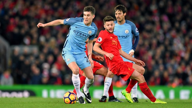 ON THE BALL: Stones holds off Lallana