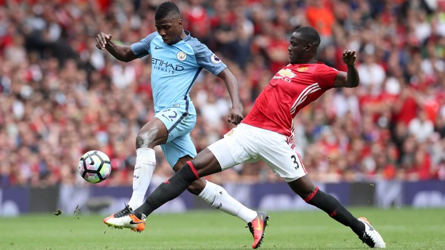 KELECHI IHEANACHO: Wins the ball