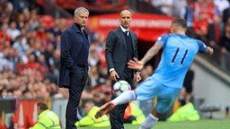 PEP GUARDIOLA: Watching over Aleksander Kolarov