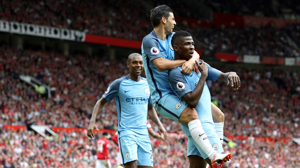 LAST TIME: Kelechi Iheanacho grabbed the winner at Old Trafford in September