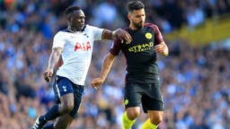 TOUGH TUSSLE: Victor Wanyama gets to grips with Sergio Aguero