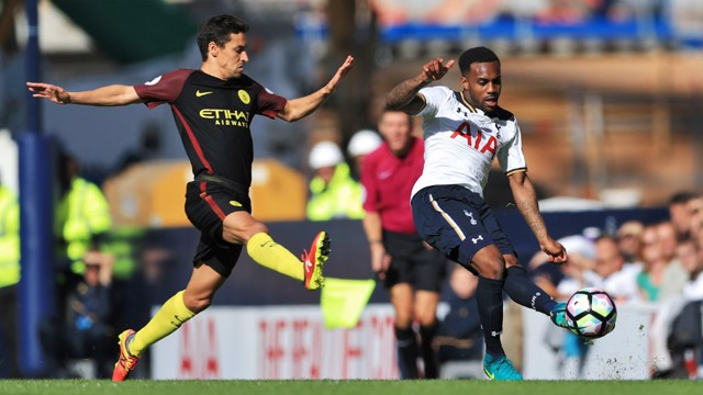 THORN IN CITY'S SIDE: Danny Rose whips in a cross