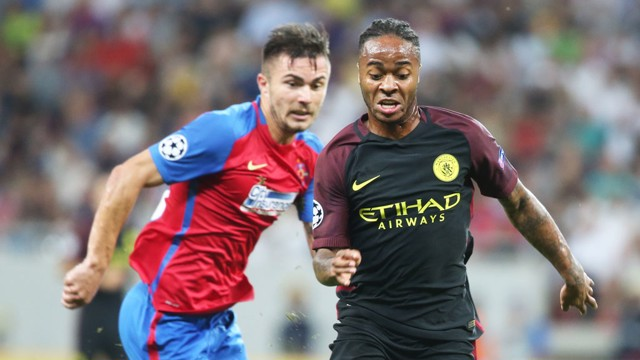 IN FORM: Raheem Sterling was singled out for praise after a comfortable win in Bucharest.