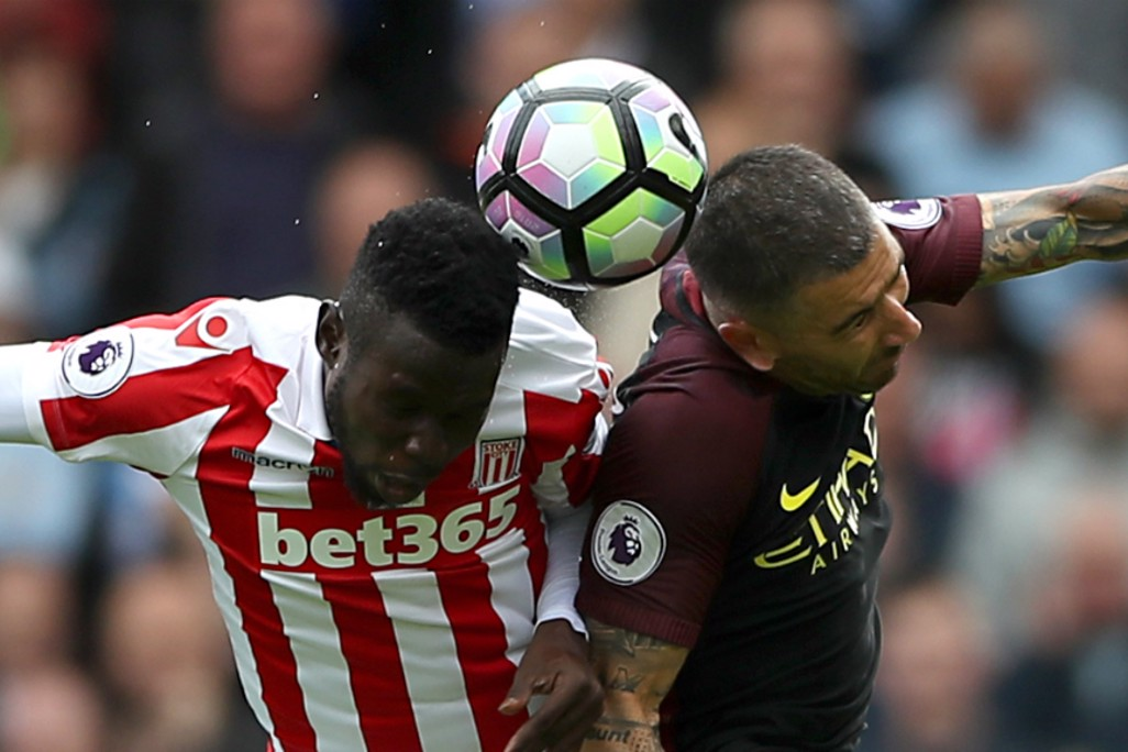 BATTLE: Aleks Kolarov goes head-to-head with Mame Diouf