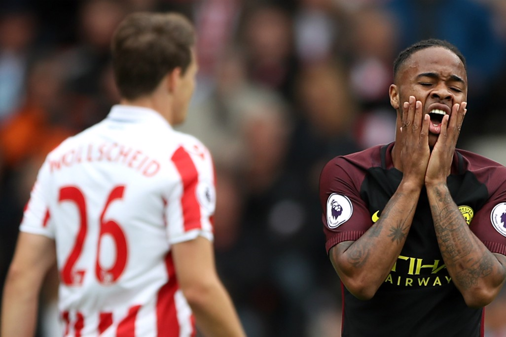 CLOSE: Raheem Sterling rues a missed opportunity in the first half