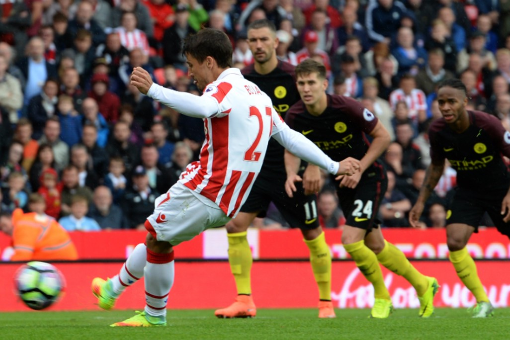 HALVING THE DEFICIT: Bojan nets from the penalty spot to make it 2-1