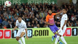 CLICHY STRIKE: A rare goal for Gael at Swansea