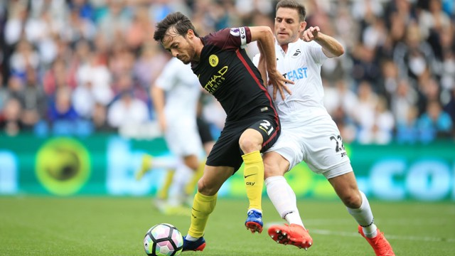 POSSESSION: Silva on the ball