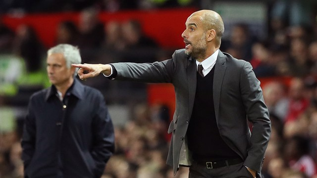Pep Guardiola on the touchline