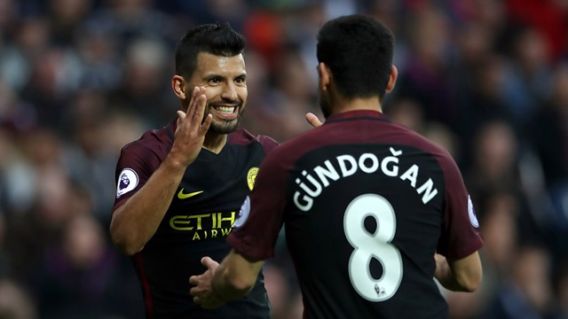 SHORTLIST: Sergio Aguero and Ilkay Gundogan have been nominated for two Premier League awards.