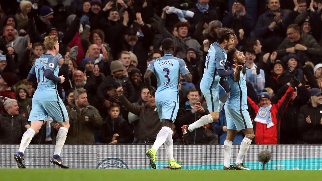 Image result for manchester city celebrate v hull 2016/17