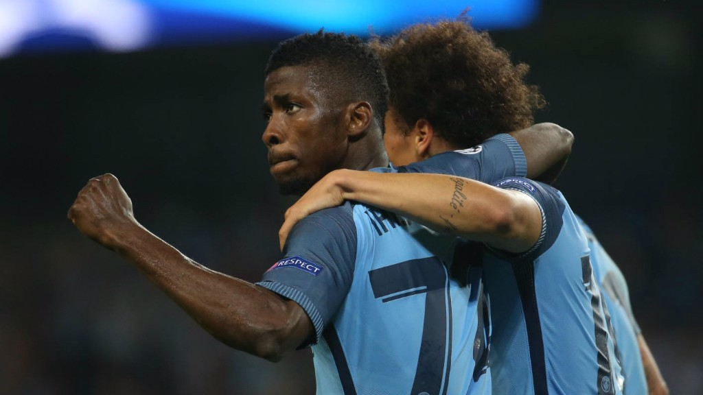 ICING ON THE CAKE: Kelechi Iheanacho rounds off an excellent night with City's fourth