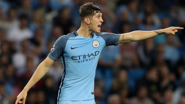 VOCAL: John Stones delivers instructions