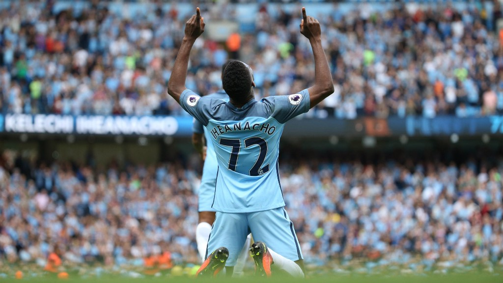 POINTING THE WAY: Kelechi's predatory instincts could punish Burnley