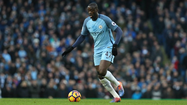 BIG MAN: Yaya Toure strides forward