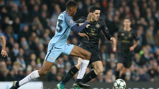 CHASE: Tosin Adarabioyo looks to regain the ball