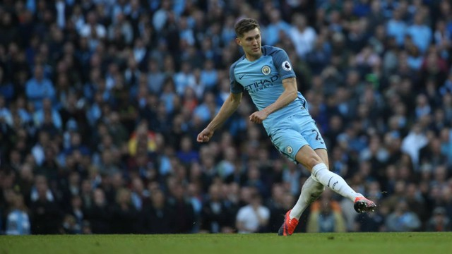 CASE FOR DEFENCE: John Stones against his former club