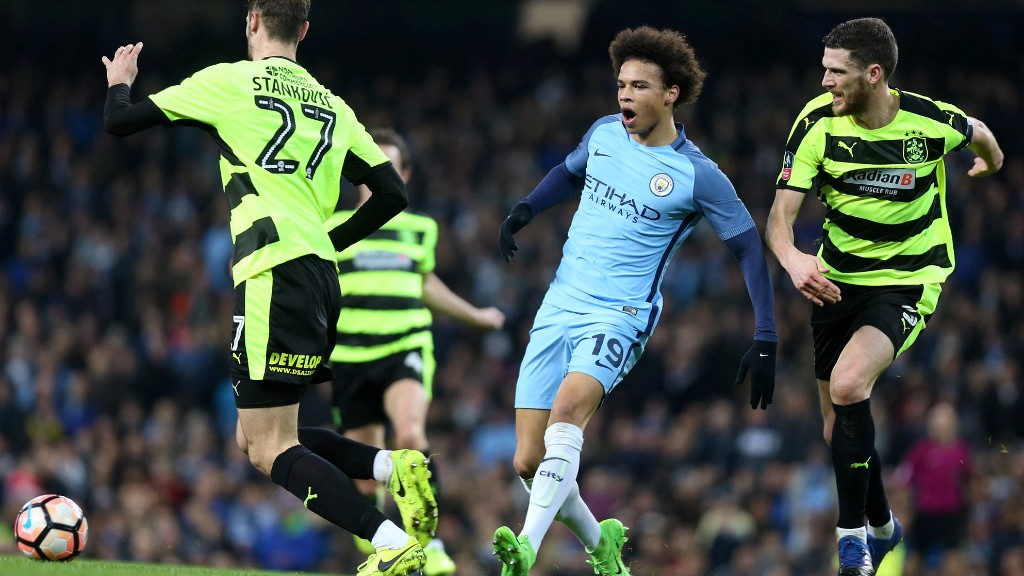 SUPER SANE: The German midfielder slices open the Huddersfield back four in the first half.