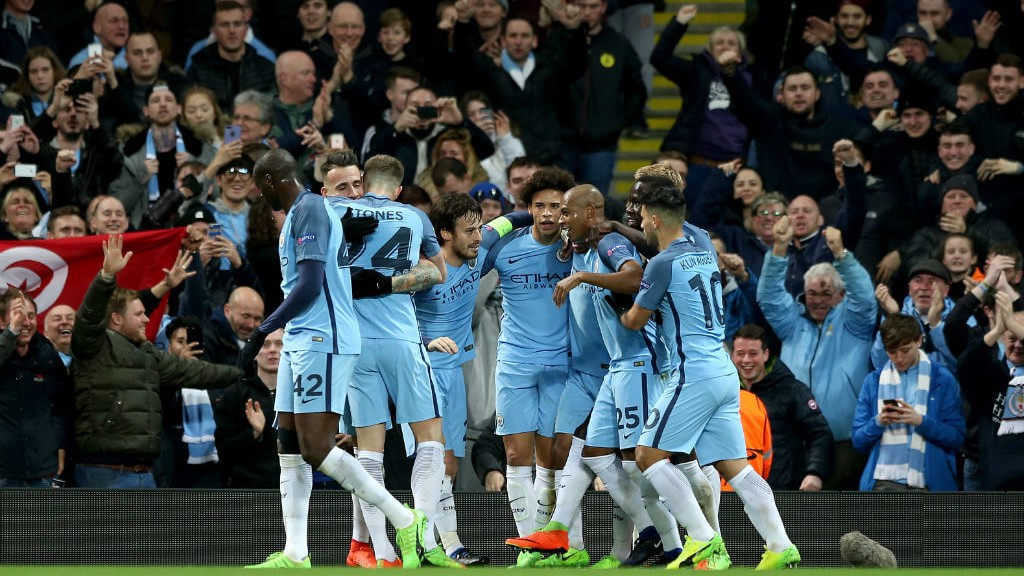 WHAT A NIGHT: City players and fans celebrate