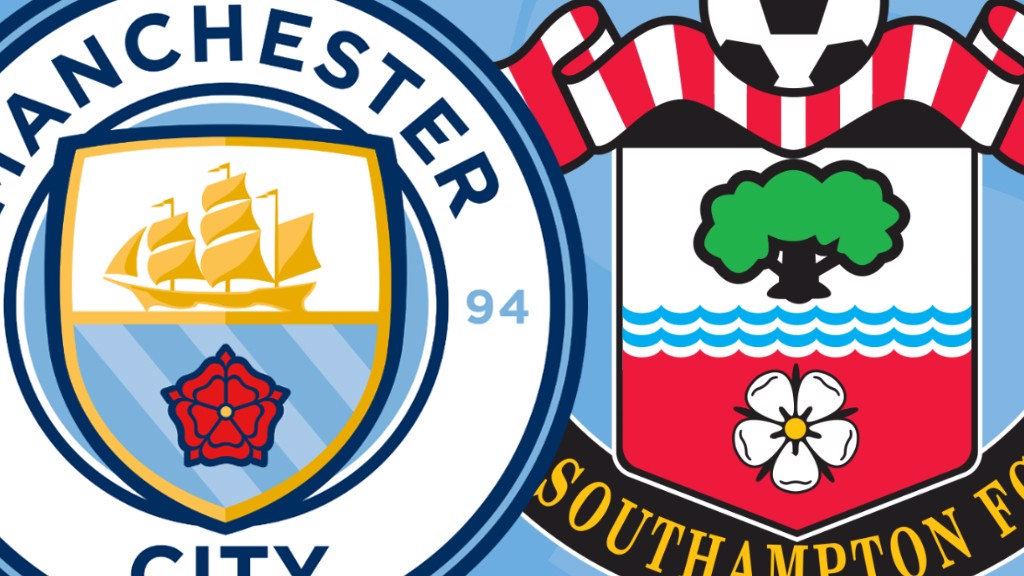 City v Southampton match crests