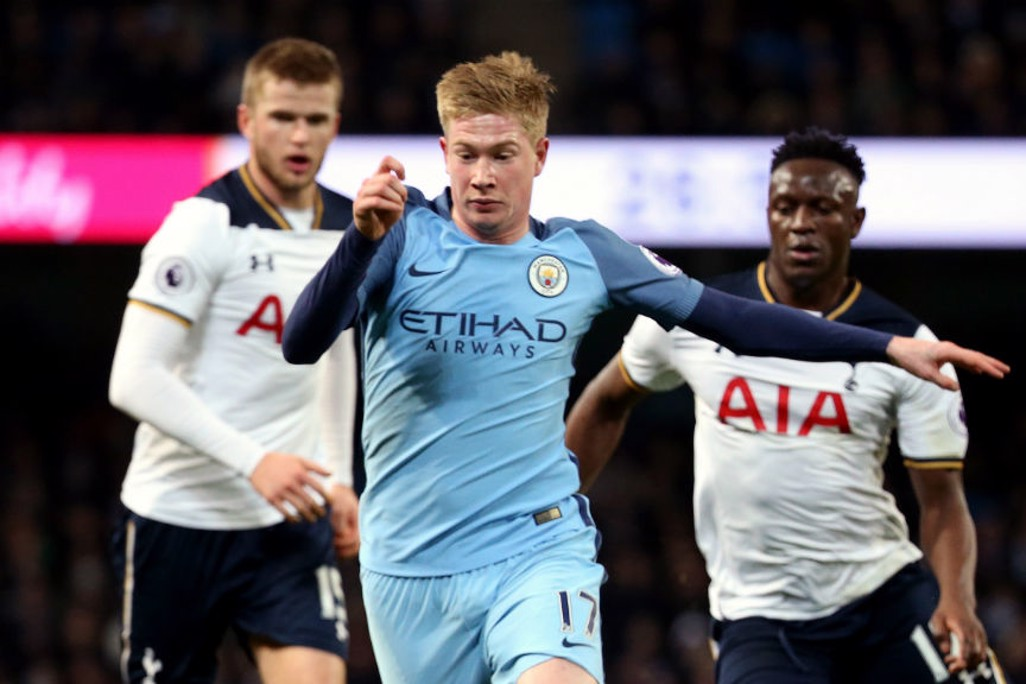 KDB: City's  Belgian star drives at Spurs