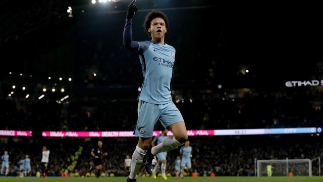 THAT'S THE ONE: Leroy Sane celebrates
