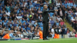 EL SENOR: Pep delivers some tactical advice