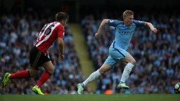 ADAPTING: Kevin De Bruyne is getting to grips with a new role under Pep Guardiola.