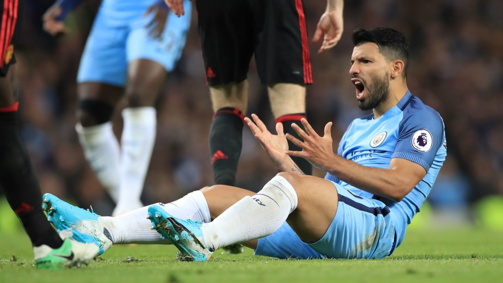 FRUSTRATED FIGURE: Sergio reacts to a decision in the second half.
