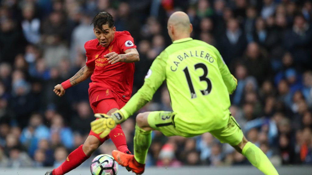 BARACADE: Cabellero produced a number of top saves in the first half to keep the scores level.