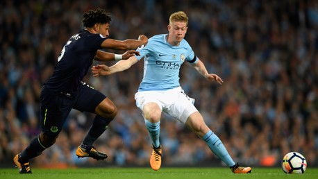 OUR NUMBER 17: KDB looks to get away from Ashley Williams.