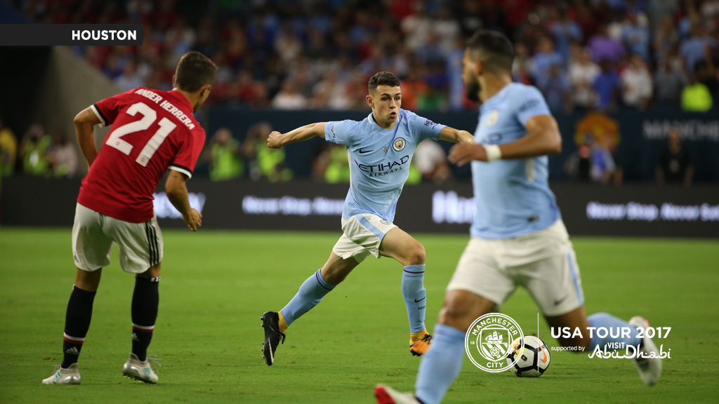 A CITY UNITED: Phil Foden in action