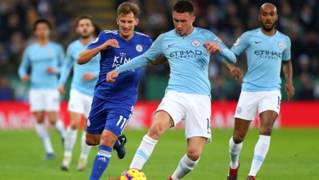BLUE STEEL: Aymeric Laoprte clears the danger for City