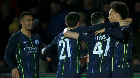 Foden at the double as City ease into FA Cup QF