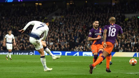 Son strike sees City lose tight first leg at Spurs