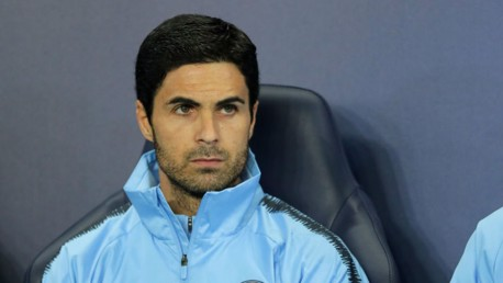 WATCHING BRIEF: Mikel Arteta casts a careful eye over proceedings
