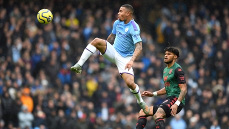 FLYING LEAP: Gabriel Jesus reaches new heights