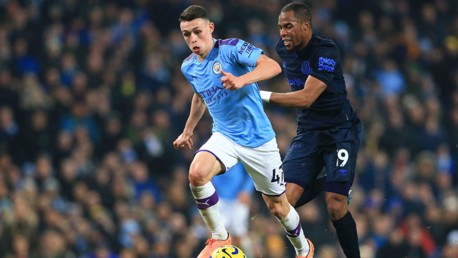 BABY SHARK: Foden put in an impressive display against the Toffees.
