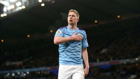 STAR MAN: De Bruyne was in fine form again to help City overcome Leicester.