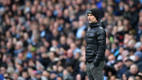 PLEASED PEP: Guardiola was left delighted with his side's comeback victory.
