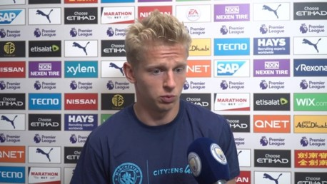 FRUSTRATION: Zinchenko gives his thoughts after our draw against Spurs.