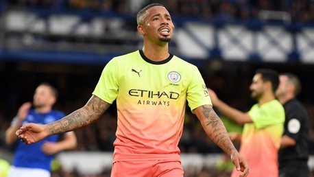 HEAD BOY: Gabriel Jesus after the opening goal
