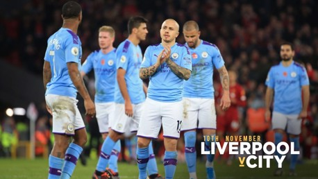 FRUSTRATION: It was a disappointing afternoon for City at Anfield.